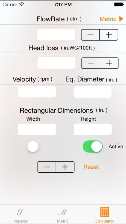 Ductulator - Duct Sizer screenshot-4