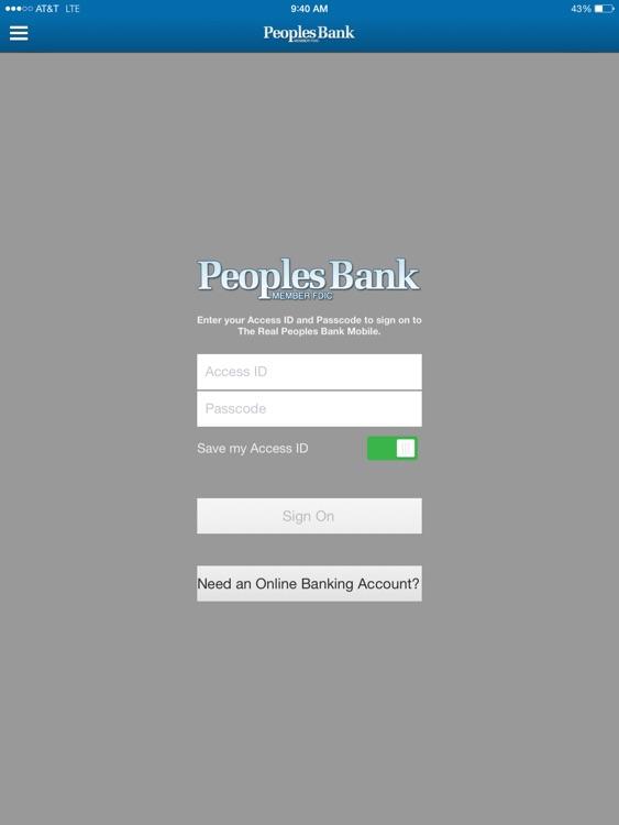 Peoples Bank NC for iPad