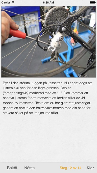 Screenshot for Bike Doctor - enkel reparation och underhåll av din cykel in Sweden App Store