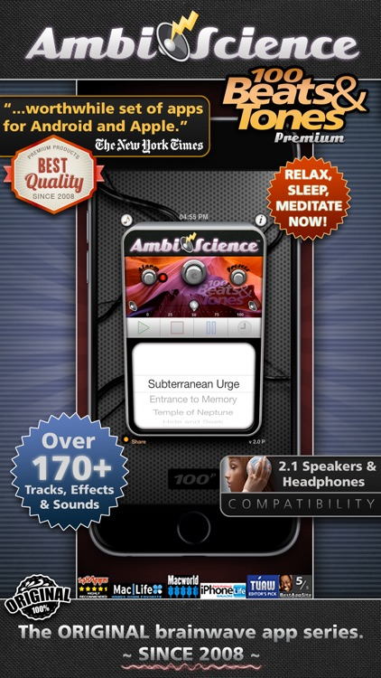 100 Binaural Beats and Tones! Premium*| AmbiScience™