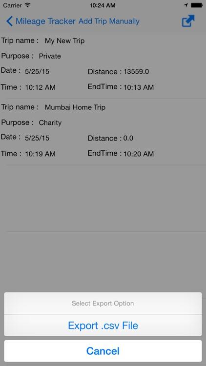 Mileage Tracker in Watch screenshot-4
