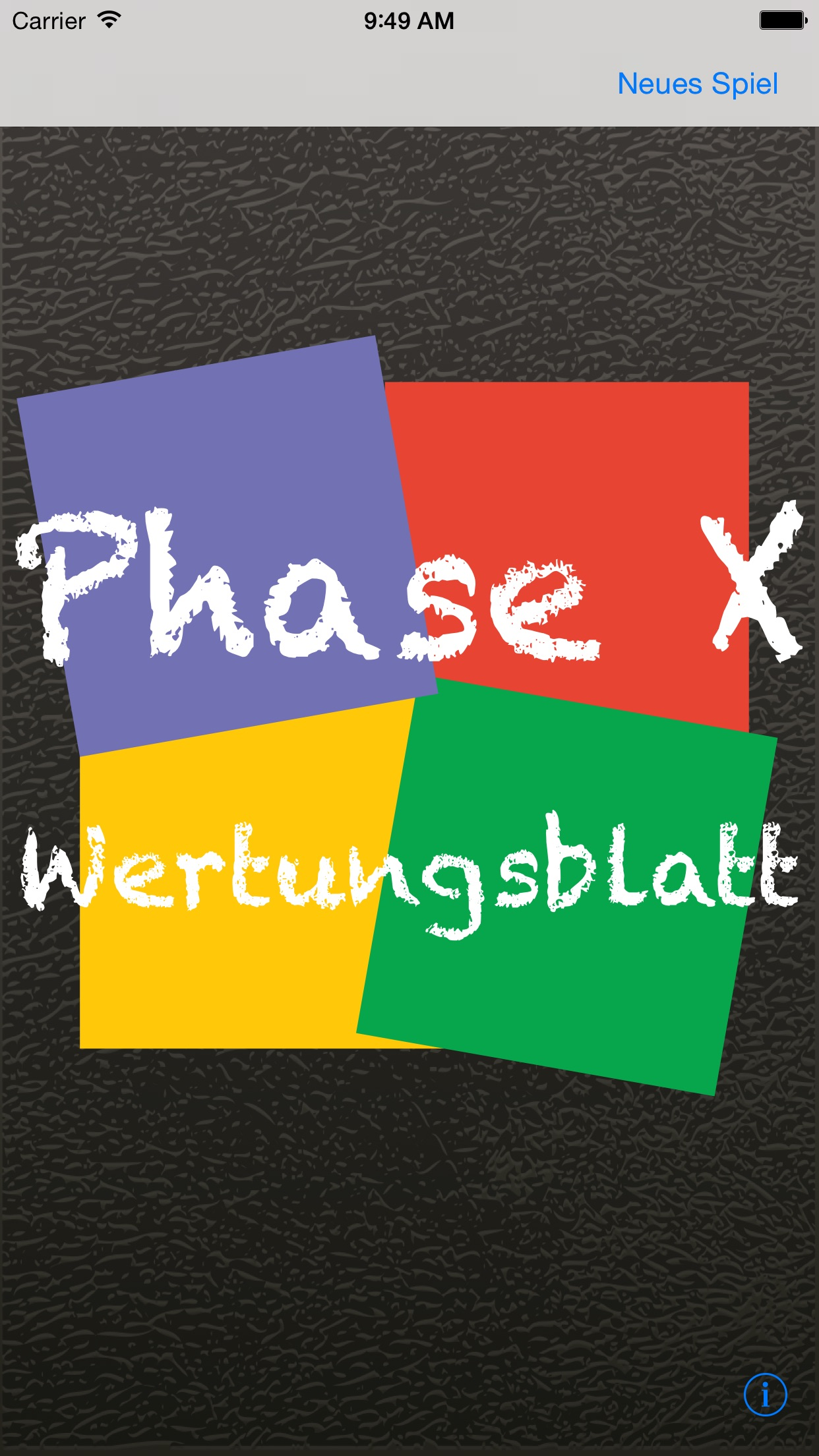 Phase 10 Wertungsblatt Screenshot