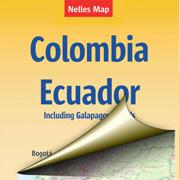 Колумбия, Эквадор. Туристическая карта.