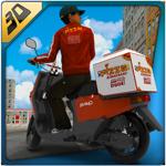 3D simulateur Pizza boy - fou coureur de moto et de livraison motards roulant simulation jeu d'aventure pour pc