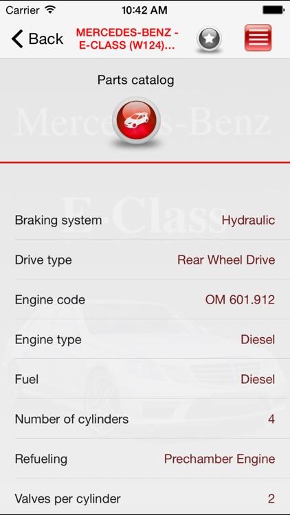 Autoparts Mercedes-Benz E-class screenshot-3