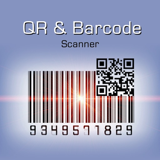 QR & Barcode Reader and Scanner - simple and fast for all kinds of products and books application logo
