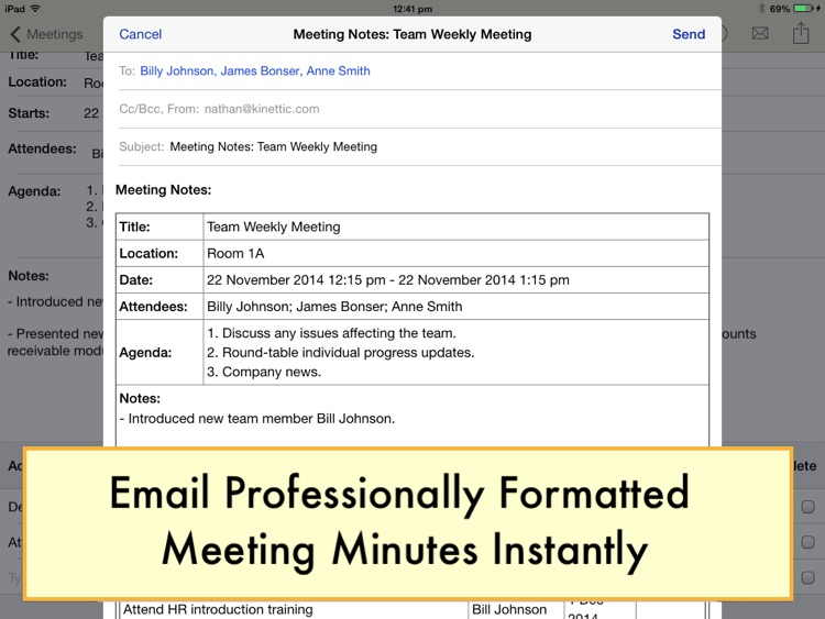 Meeting Notepad screenshot-3