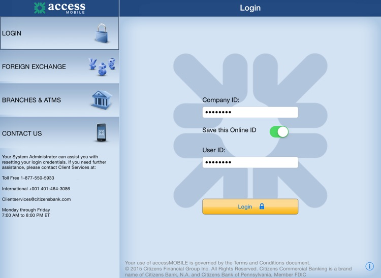 accessMOBILE for iPad by Citizens Commercial Bank