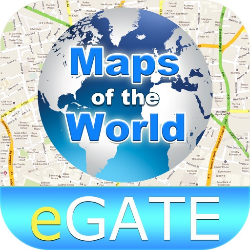 Maps of the World with GPS, Compass,Street View,Directions, POI Search