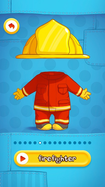 Dress Up : Professions - Occupations puzzle game & Drawing activities for preschool children and babies by Play Toddlers (Free version for iPhone)