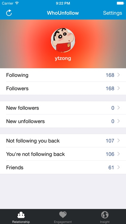 WhoUnfollow for Instagram - Find Who Unfollowed You (Unfollow Tracker) screenshot-0
