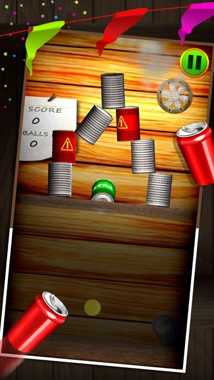 Carnival Can Knockdown 3D - Ball Toss Smash Game screenshot-3