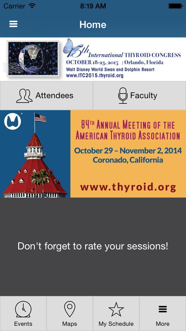 American Thyroid Association (ATA) 84th Annual Meeting screenshot one