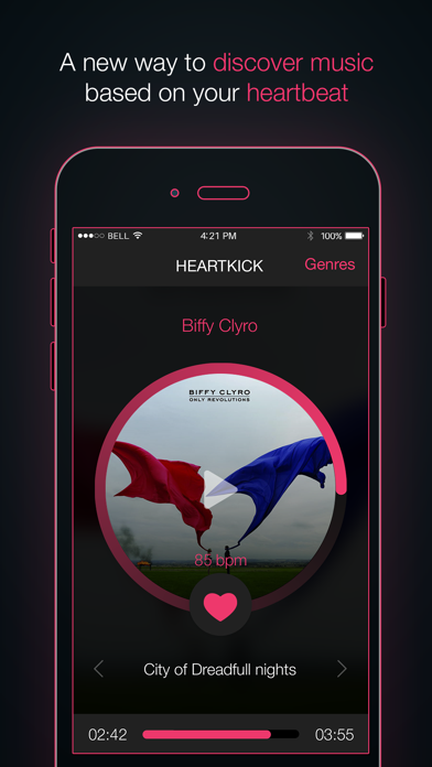Heartkick - Stream music from your heartbeat