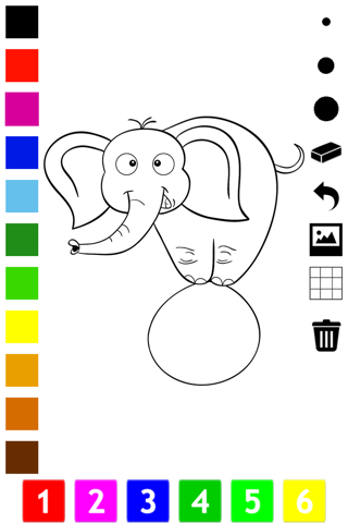 Circus Coloring Book For Children: Learn To Color  - náhled