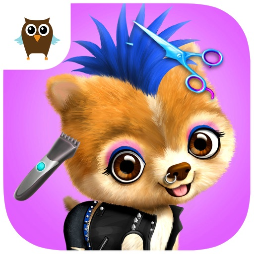 Animal Hair Salon, Dress Up and Pet Style Makeover - No Ads icon