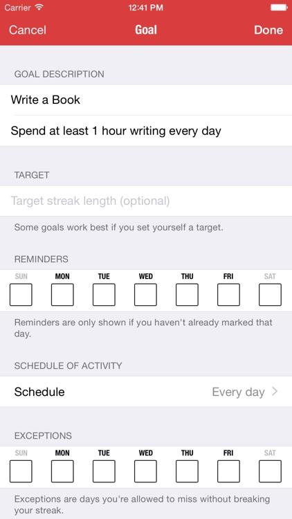 Goal Streaks - Daily Goals & Habits Tracker screenshot-3