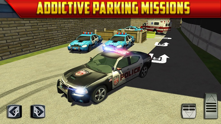 Police Car Parking Simulator Game - Real Life Emergency Driving Test Sim Racing Games screenshot-3
