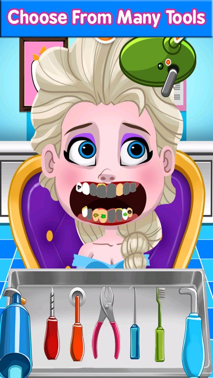 `Dentist Games of Princess Kids Teeth Free Screenshot