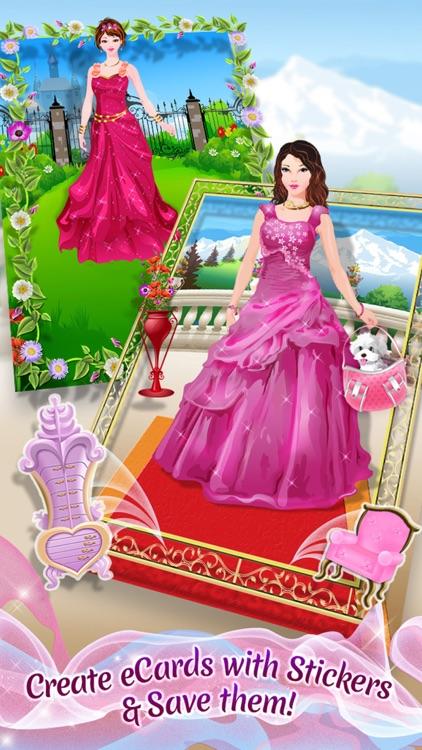Princess Party Planner - Dress Up, Makeup & eCard Maker Game screenshot-3