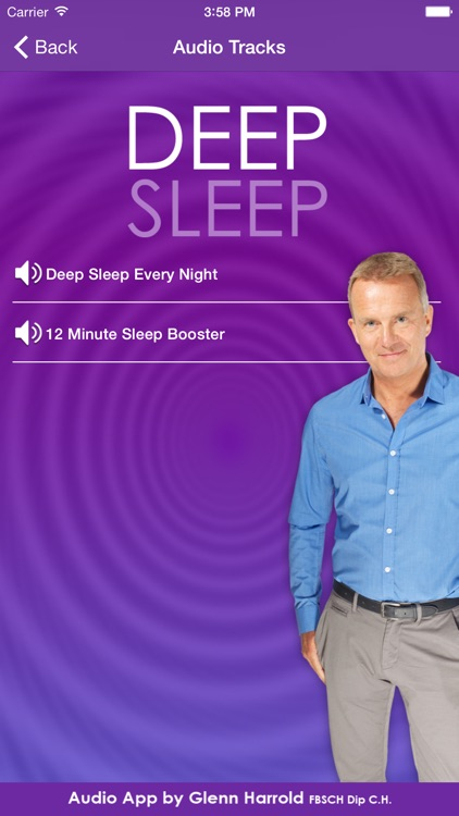 Deep Sleep by Glenn Harrold, a Self-Hypnosis Meditation for Relaxation screenshot-1