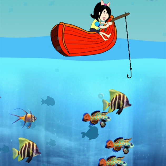 Fishing kids fun catch big fish for girls games on the for Fishing games for girls