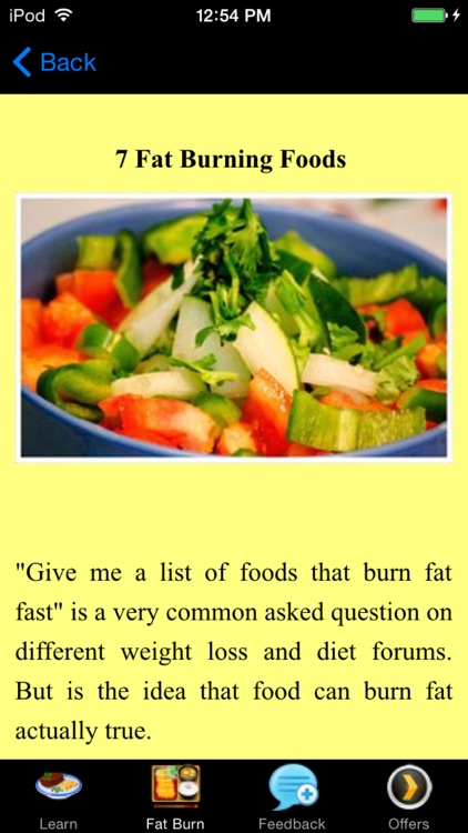 Foods That Burn Fat -  Scientific Way