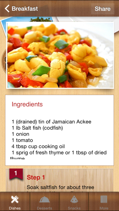 Caribbean Cookup Recipes screenshot two