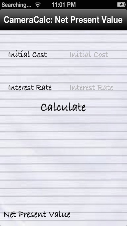 Net Present Value (NPV) Financial Calculator