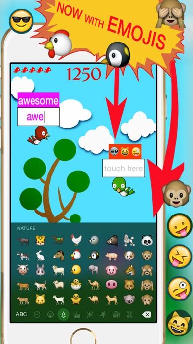Typer Duck - Typing and Emoji Keyboard Game Screenshot on iOS