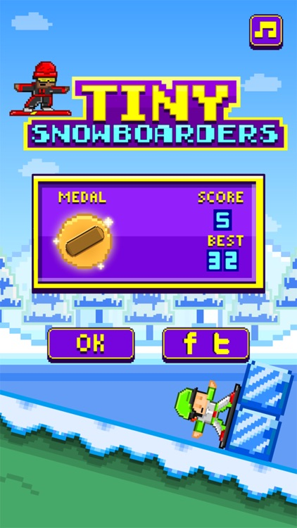 Tiny Snowboarders FREE GAME - Play 8-bit Pixel Snowboard-ing Games screenshot-3