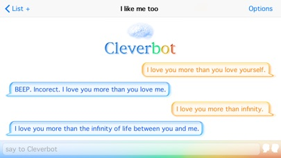 Screenshot for Cleverbot in Viet Nam App Store