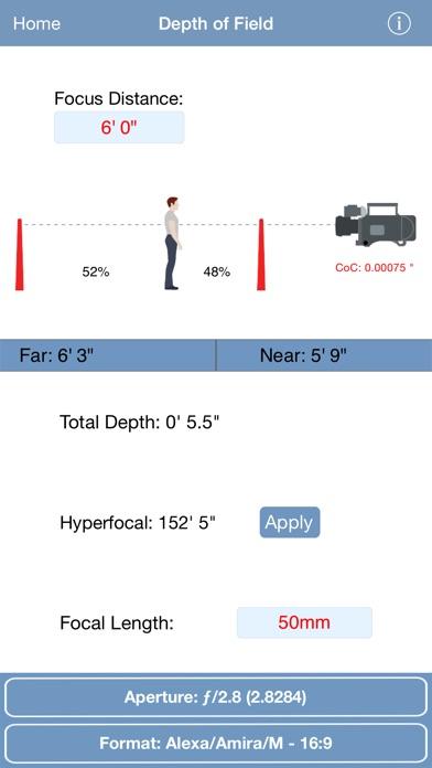 pCAM Film+Digital Calculator Screenshot 1