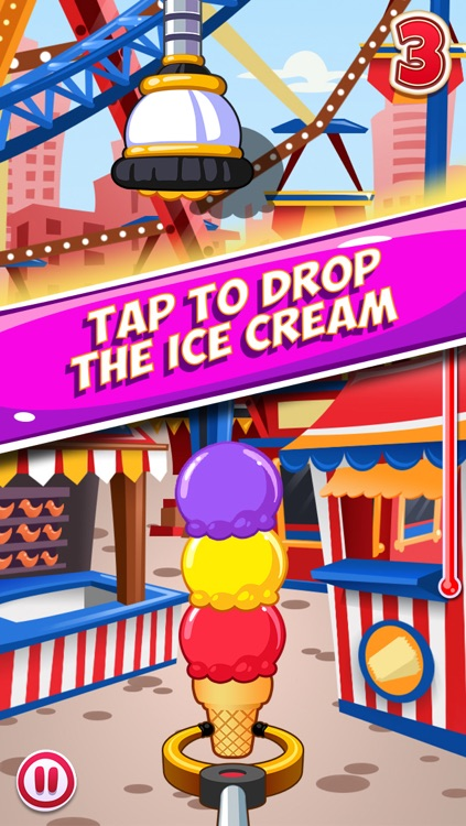 Ice Cream Scoops Up - simple stacking game