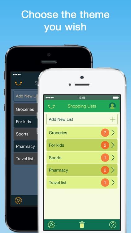Organizy - Shopping List (Grocery List) screenshot-3
