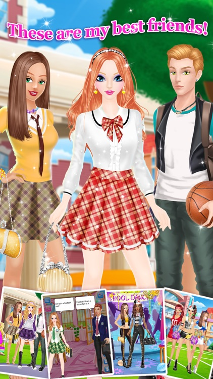 High School Salon - Girls Makeup, Dressup and Makeover Games screenshot-3