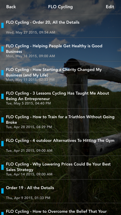 FLO Cycling screenshot