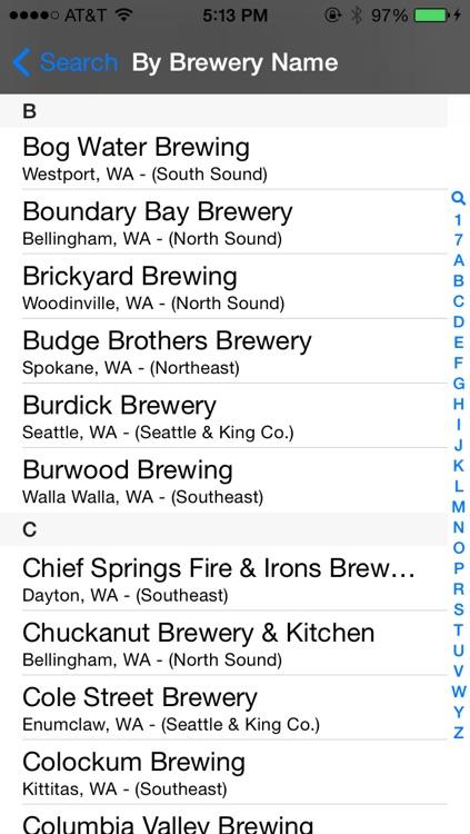 Washington Brewery Finder
