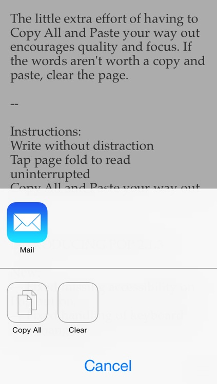 Pop for iOS — a piece of paper to write notes, ideas and things to do