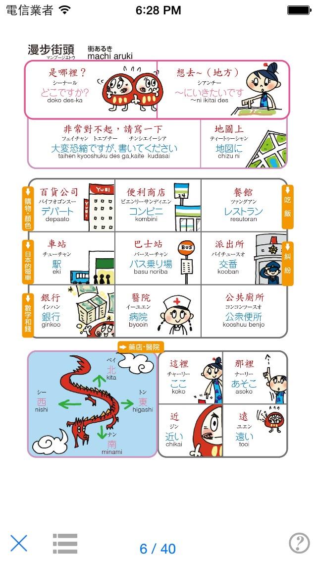 指指通會話 臺灣華語-日本 touch&talk屏幕截圖2