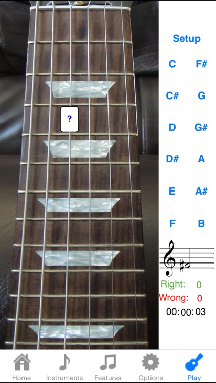 Electric Guitar Fretboard Addict FREE screenshot-0