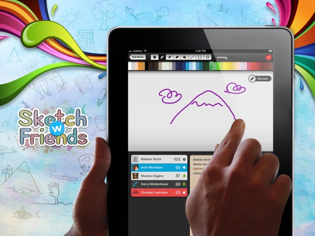 Sketch W Friends Free Multiplayer Online Draw And Guess Friends