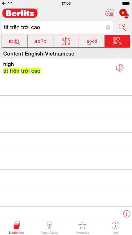 English - Vietnamese Berlitz Basic Dictionary