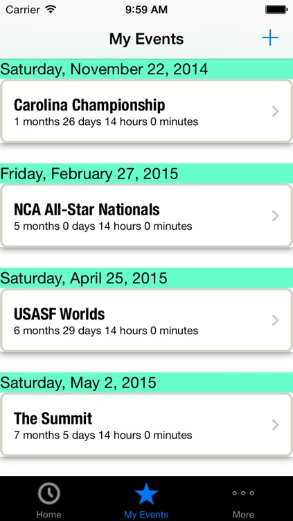 2015-16 All Star Cheerleading and Dance Competition Schedule & Countdown