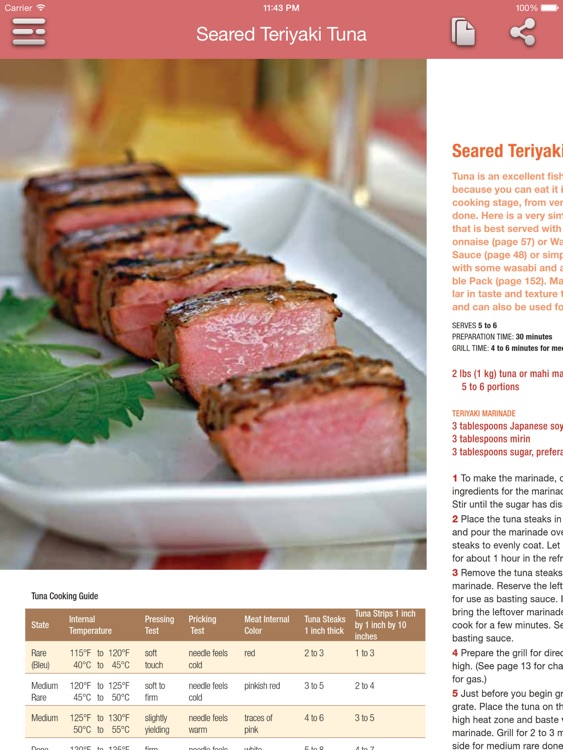 Barbecue & Grilling Cookbook for iPad screenshot-3