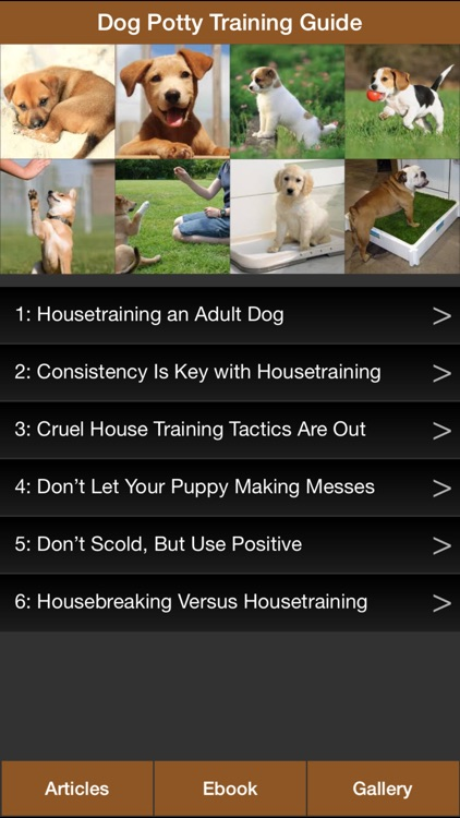 Dog Potty Training Guide - How To Potty Train Your Dog More Effectively screenshot-0