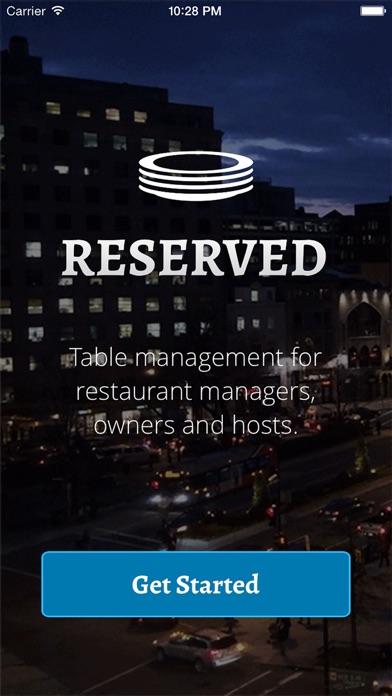 点击获取Reserved - Table management for restaurant managers, owners and hosts.