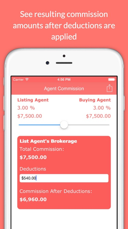 Real Estate Agent Commission Calculator