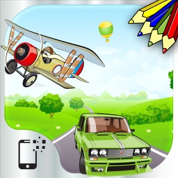 Vehicles and transportation : free coloring, jigsaw puzzles and educative games for kids and toddlers