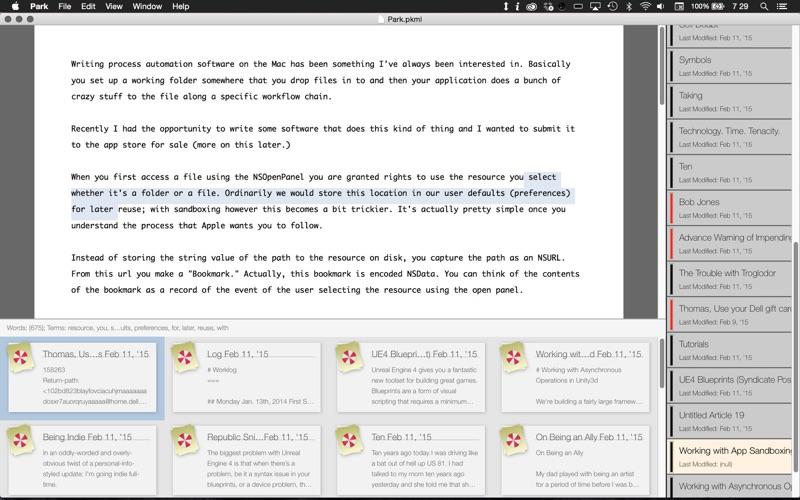 Park скриншот программы 1